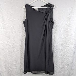 J.B.S. LTD Chiffon Shoulder Sheath Dress